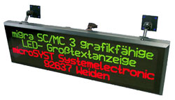 migra MC - графическое табло