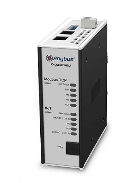 Шлюз Anybus X-gateway IIoT – Modbus TCP Server - OPC UA-MQTT