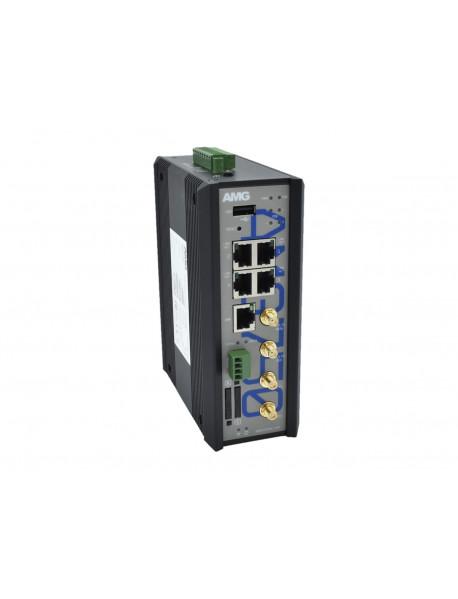 AMG750-1G-4GAT-1E4-P120 Промышленный 4G/LTE роутер с WIFI & PoE