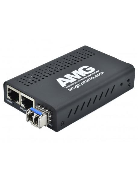 AMG210-2G Медиаконвертеры GE 10/100/1000M с двумя портами Ethernet