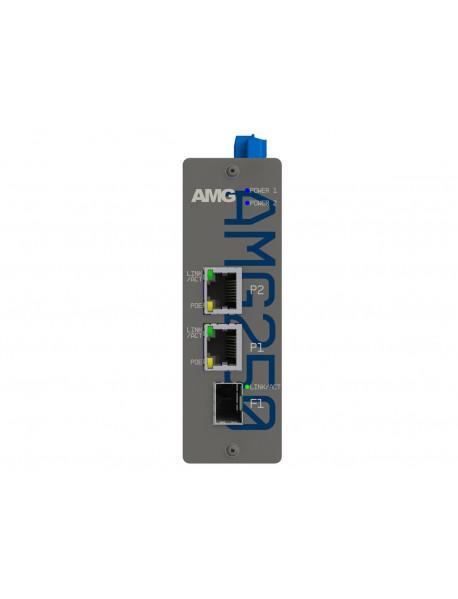 AMG250 Медиаконвертеры 2FE/GE + 1SFP c возможностью поддержки POE