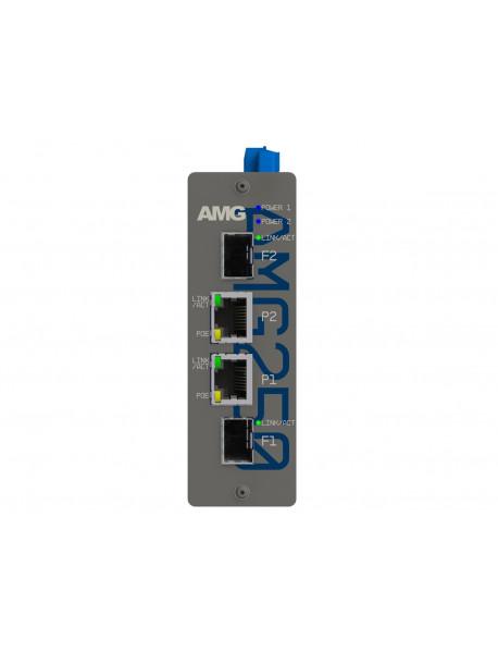 AMG250 Медиаконвертеры 2FE/GE + 2SFP c возможностью поддержки POE