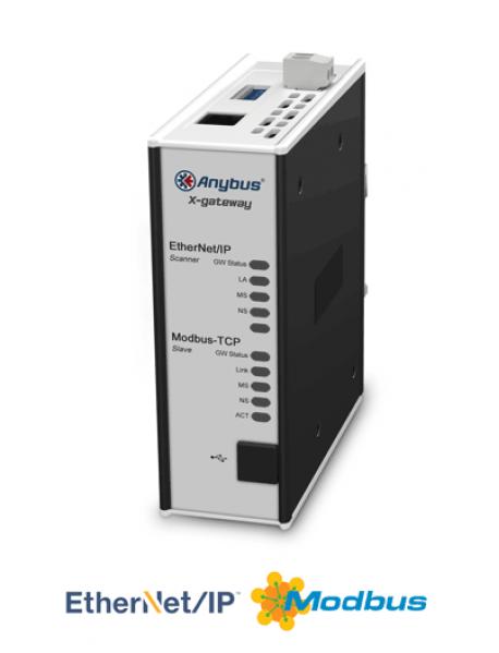 AB7669 EtherNet/IP Scanner/Master - Modbus TCP Server/Slave