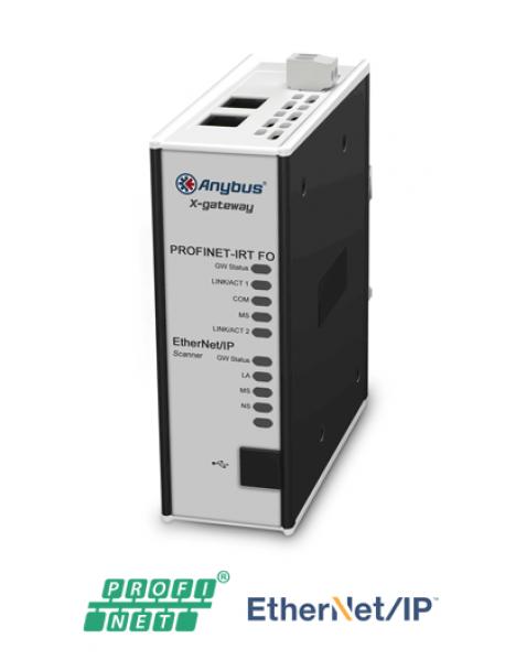 AB7980 EtherNet/IP Adapter/Slave - PROFINET-IRT FO Device/Slave (Fiber Optic)