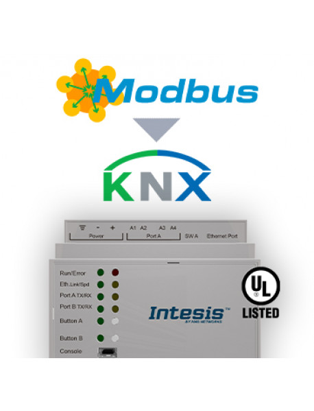 Шлюз Intesis Modbus TCP & RTU Master to KNX TP