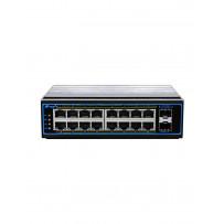 NIE8162PGM 16*10/100/1000M+2*1000MSFP Промышленный неуправляемый PoE коммутатор N-Net