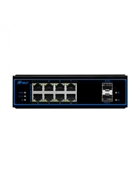 NIE8082PG 8*10/100/1000M+2*1000MSFP Промышленный неуправляемый PoE коммутатор N-Net