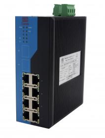 8-портовые промышленные неуправляемые PoE Ethernet Коммутаторы
