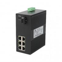 7/8 портовые компактные промышленные неуправляемые коммутаторы (Ethernet + FO)