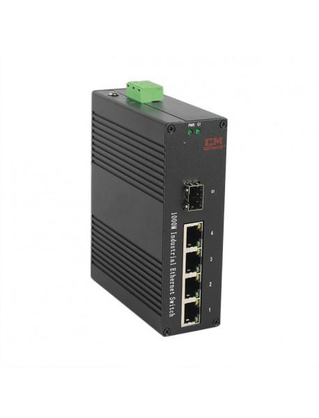 6/5/4 портовые компактные промышленные неуправляемые коммутаторы (Ethernet + SFP)