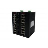 16/20 портовые промышленные Ethernet Коммутаторы (Ethernet + FO)