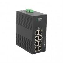 8 портовые промышленные управляемые коммутаторы (Ethernet + FO)