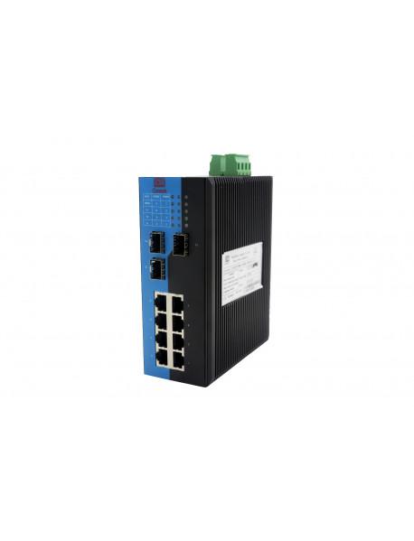 11 портовый управляемый Gigabit Ethernet Коммутатор с SFP слотами