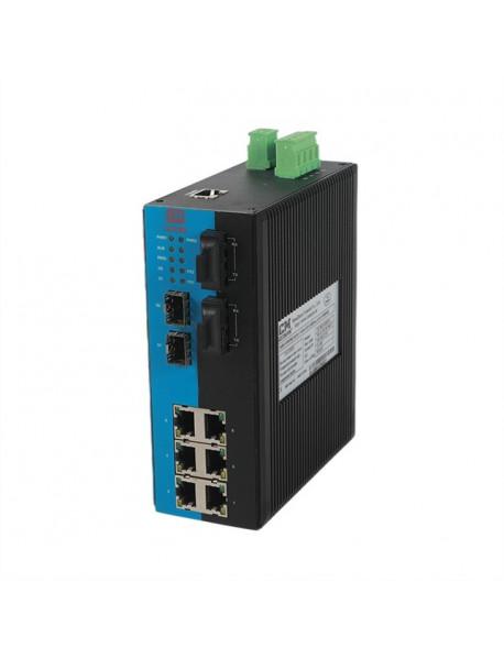 10 портовый управляемый Ethernet Коммутатор с гигабитными SFP слотами