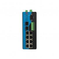 8TX+4Serial+2SFP управляемый Ethernet Коммутатор с поддержкой Modbus и SFP слотами