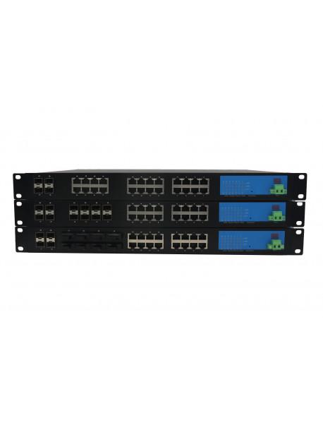 16/24 портовые модульные промышленные Ethernet Коммутаторы + 4 SFP