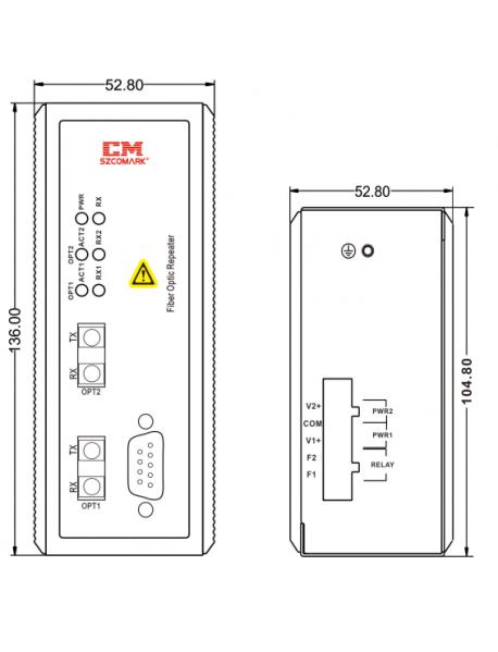 Modbus Plus - FO конвертер (повторитель)