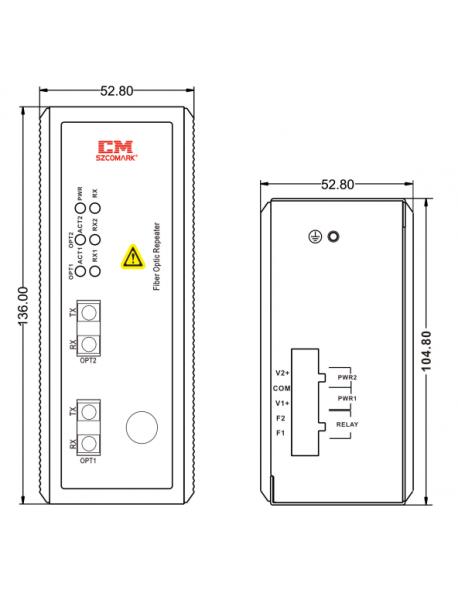 S908 RIO - FO конвертер (повторитель)