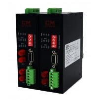 RS-232/485/422 - FO конвертер (повторитель) в алюминиевом корпусе