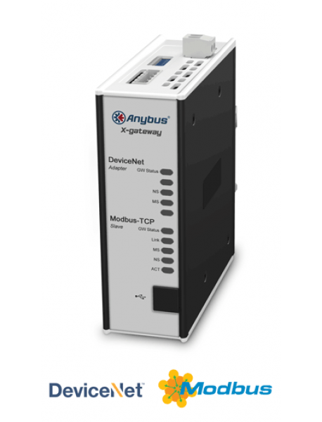 AB7635 DeviceNet Adapter/Slave - Modbus TCP Server/Slave