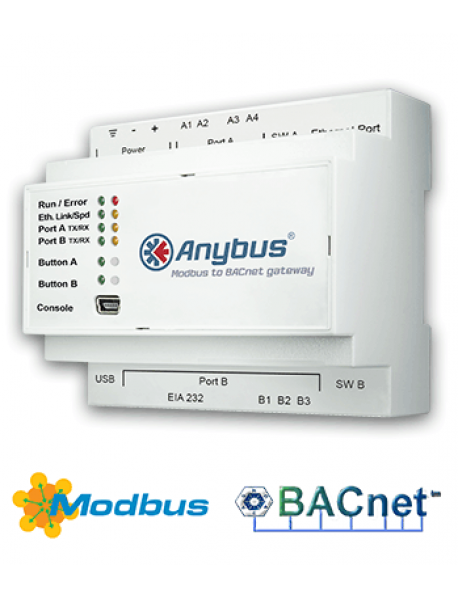 Шлюз Anybus Modbus to BACnet