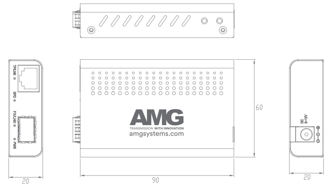 AMG210M SERIES dimensions