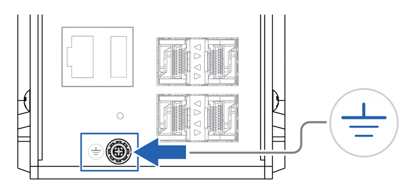Anybus Unmanaged Industrial L3 Switch ground connection