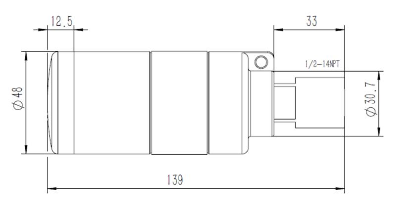 A1110 WirelessHART Adapter dimentions