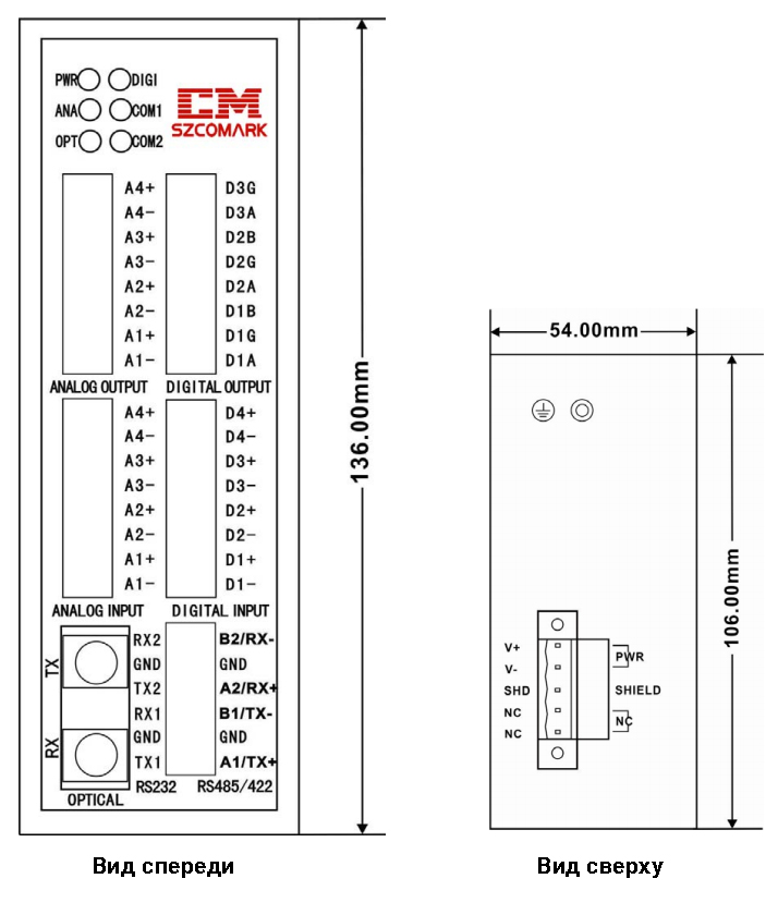 CJ-KF1X series dimensions