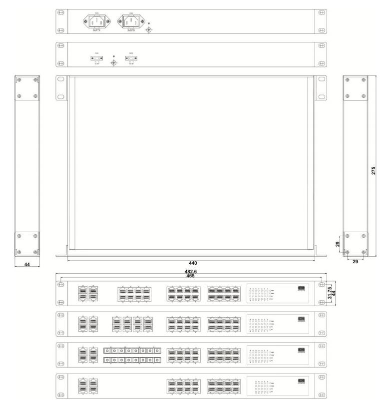 SZComark CRS31XX Switches mounting