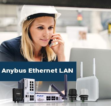 Формирование инфраструктуры локальной сети при помощи Anybus Ethernet LAN