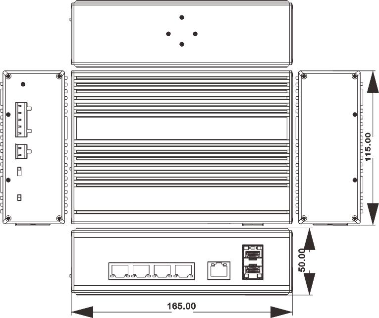 NIE8052PG dimensions