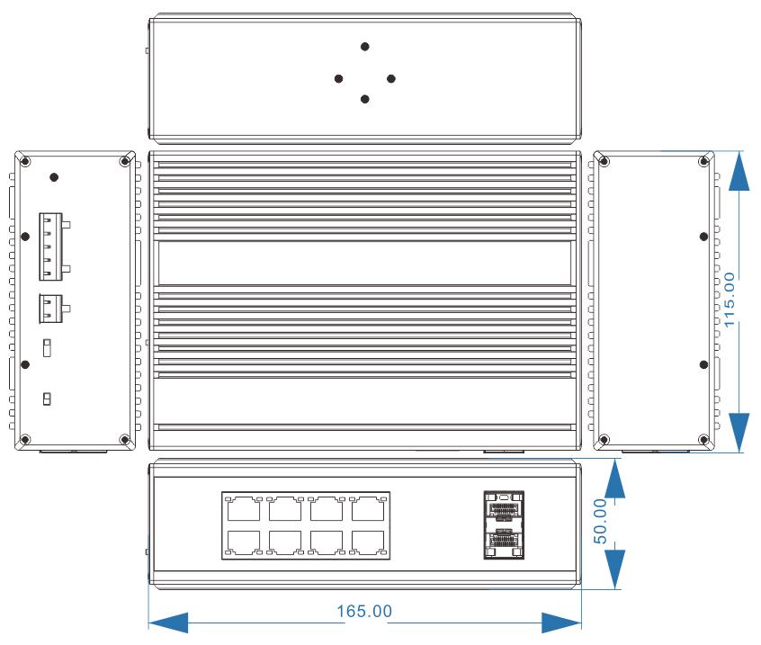 NIE8082PG dimensions