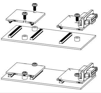 Пример установки плат Anybus B40